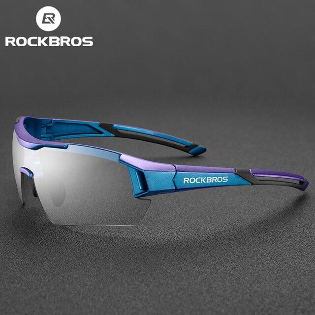 Rockbros photochromic ciclismo óculos de bicicleta esportes óculos de sol dos homens mtb ciclismo estrada óculos de proteção 1