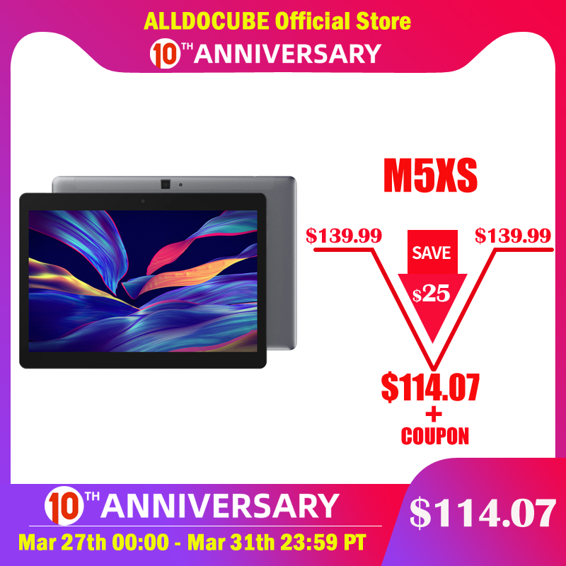ALLDOCUBE Tablets PC GPS Calling 10-Core-Phone IPS 4G FHD MTKX27 LTE 32GB 3GB M5XS 3GB-RAM title=