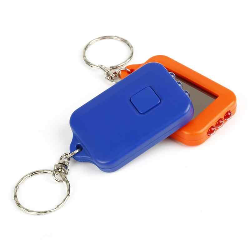 Mini Keychain Taschenlampe Tragbare Solar Power 3 LED Gebaut-in Batterie Aufladbare Taschenlampe Leichte Schlüsselring Licht