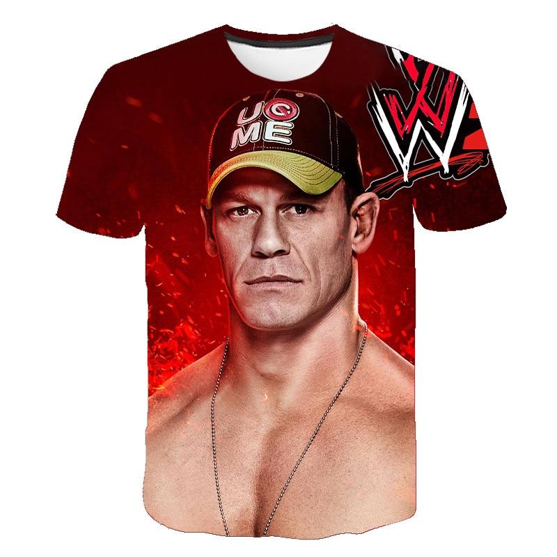 John Cena 2020 New 3D Printed Pattern T-shirt American Wrestling Union WWE Fitness Breathable Fashion Men's Short Sleeve S-6XL