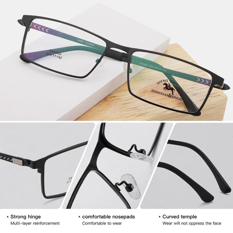 Image 2 - TANGOWO Alloy Glasses Frame Men Women Vintage Rectangle Myopia Optical Frames Prescription Eyeglasses Screwless EyewearMens Eyewear Frames   -