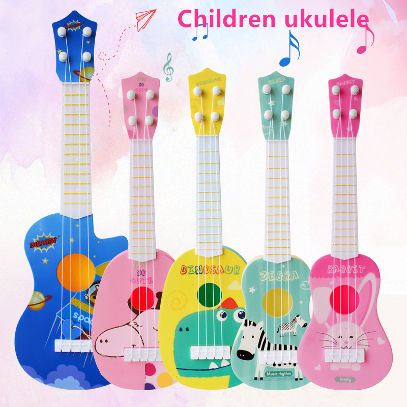 Children Mini Ukulele Simulation Guitar Classic Toys Cute Noise Maker Guitar Baby Kids Interest Development Toys