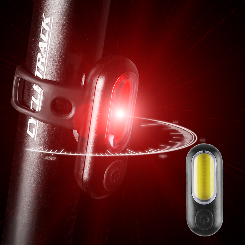 Led Warning Tail <font><b>Light</b></font> Bicycle Rear <font><b>Light</b></font> USB Rechargeable <font><b>Red</b></font> <font><b>White</b></font> Blue Taillight <font><b>Lights</b></font> Cycling Accessories For <font><b>Bike</b></font> Bicycles image