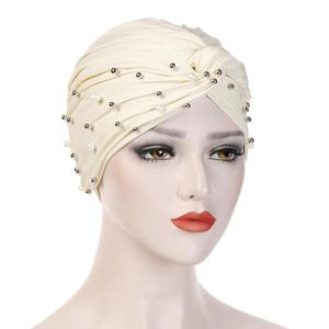 Image 2 - muslim cotton turban hijab bonnet arab wrap head turbans for women indian african turbans Twist headband turbante mujer