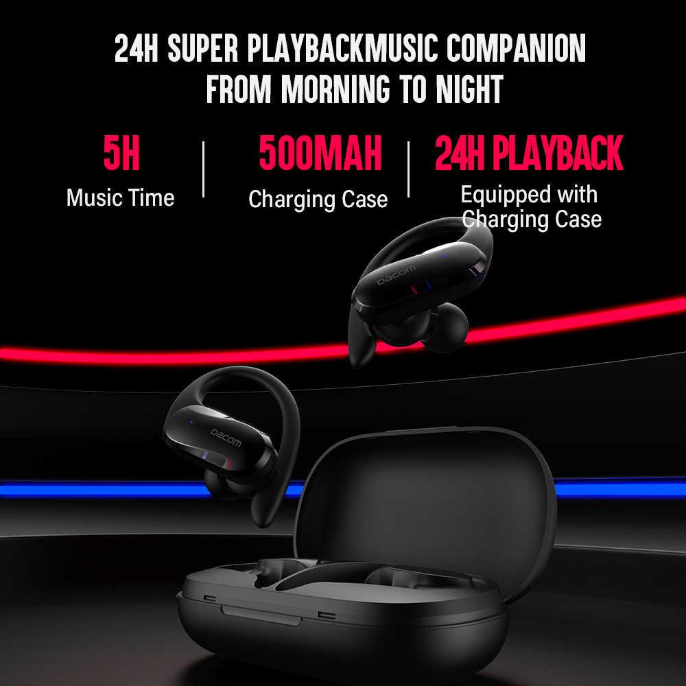DACOM G05 TWS Bluetooth אוזניות אלחוטי אמיתי סטריאו אוזניות ספורט אוזניות אוזן וו ריצה אוזניות עבור iPhone סמסונג