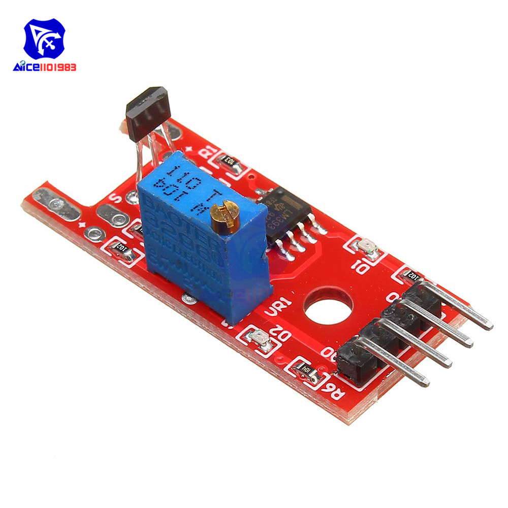 10PCS Hall Magnetic Standard Linear Module KY-024 For Arduino AVR PIC