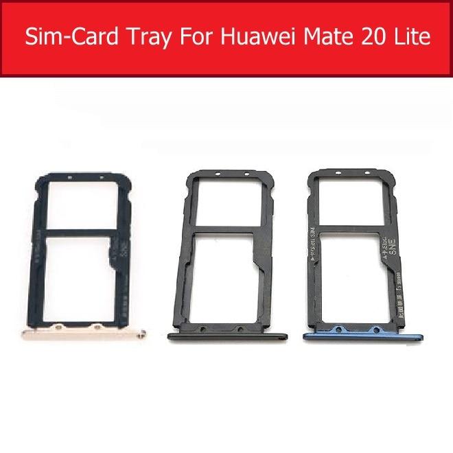 Sim Card Tray Holder For Huawei Mate 20 Lite Sim Micro Reader Card Slot Adapters For Huawei Maimang 7 Card Socket Repair Parts