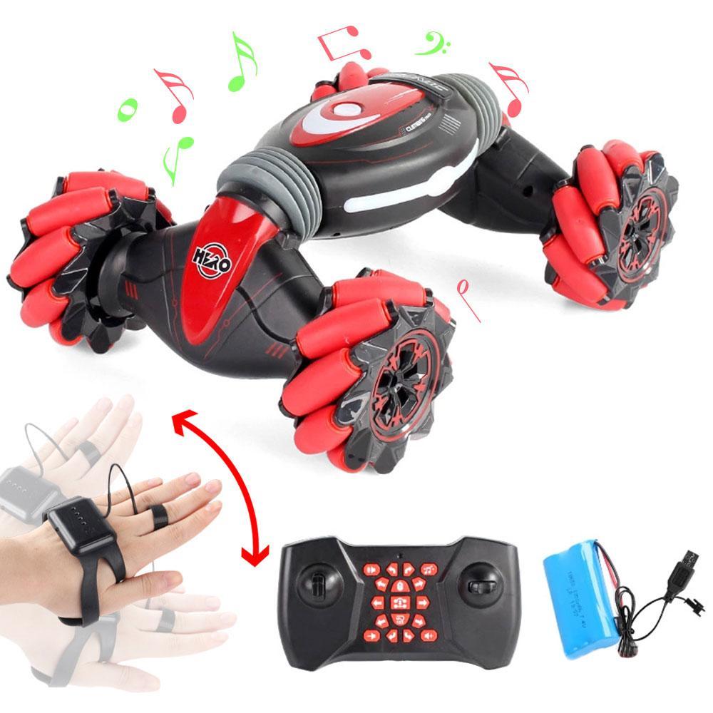 2,4 GHz 4WD RC автомобильный датчик жестов, часы, управление, двухсторонние трюковые автомобили, Внедорожные багги, игрушки, высокая скорость, скалолазание, RC автомобиль, детские игрушки