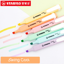Stabilo Swing Cool Pastel Markeerstift Marker Pennen Macarons Kleuren Pack Van 6 Diverse Kleuren