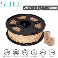 WOOD filament 1.75mm 1kg SUNLU new with no bubble eco-friendly polycarbonate plastic for 3d pen or 3D printer