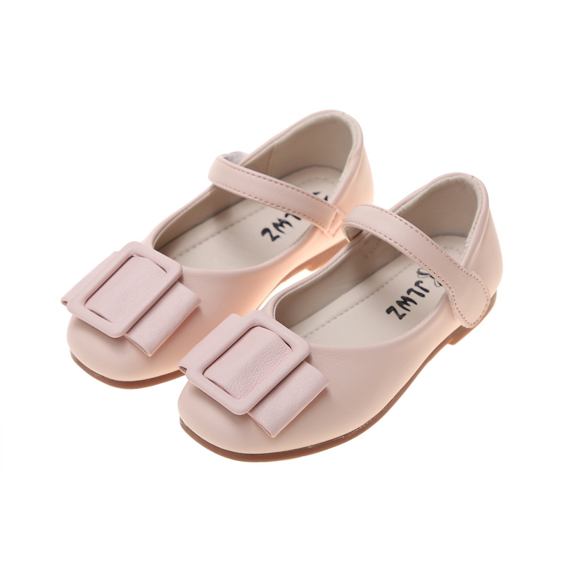 Children Shoes Kids Leather Little Girl Flat Dress Shoes For Girls School Princess Shoes Black Pink White 3 4 5 6 7 8 9 10 11 12
