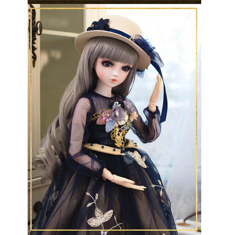 1/3 BJD Doll 60cm 18 Ball Jointed Dolls With Outfits Palace Maxi Dress Wig Shoes Makeup Toys Gifts For Girls Collection