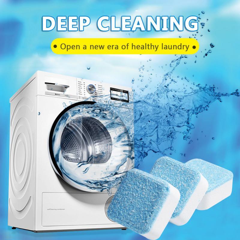 5 PCS Solid Washing Machine Cleaner Effervescent Tablet Washer Deep Clean Detergent Effervescent Tablet Washer Cleaner