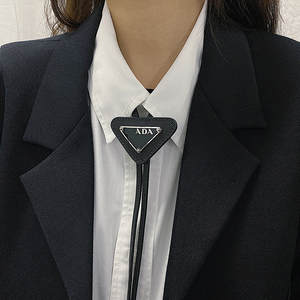 Tie Necklace Bow-Tie Triangle Vintage Luxury Gift Metal Women Classic Fashion Hundred