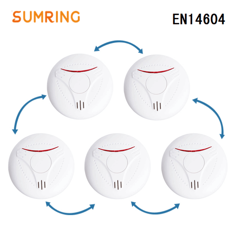 Smoke Detector Protection Home 433Mhz DC3V Battery Interconnected Security Fire Detector Alarm