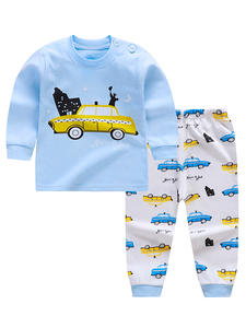 Sleepwear Pants Baby Cotton Cartoon Pajamas-Sets Tops Spring Girls Autumn 0-2-Years-Old