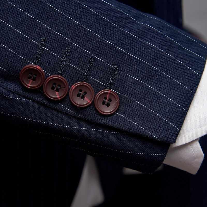Neue Herren Anzüge Designer 2020 Slim Fit Striped Hohe Qualität Hochzeit Kleid 3 Stück Herren Anzüge Mit Hosen Kostüm Homme mariage