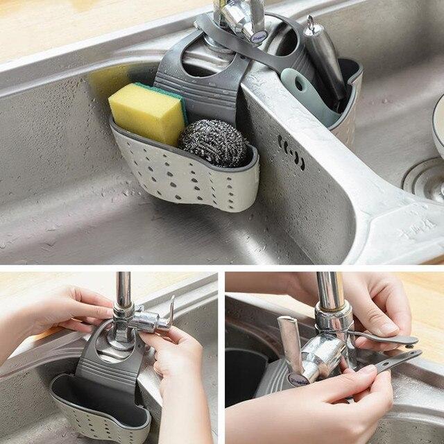 креативная кухонная корзина сливная полка ситечко для ванной фотография