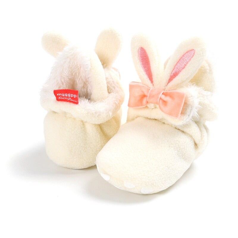 Baby Shoes Newborn Girls Baby  Winter Anti-slip Sneaker Cartoon Bunny Girls Cotton First Walkers Plush Baby Booties