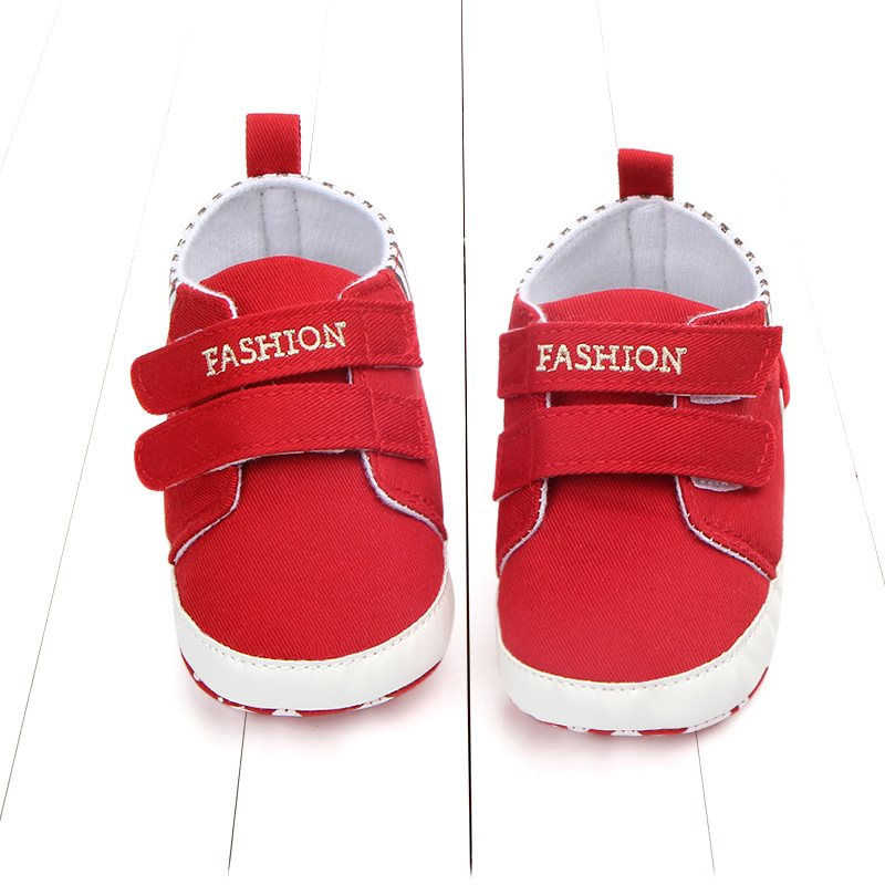 4*Colors Infant Babies Boy Girl Shoes Sole Soft Canvas Solid Footwear For Newborns Toddler Crib Moccasins