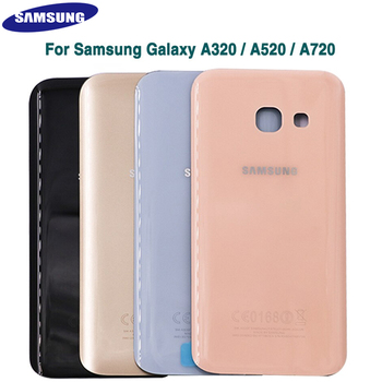 Genuine SAMSUNG Galaxy A3 A5 A7 2017 A520F A720F A320F Glass Battery Cover Case Back Door Back Housing Replacement Adhesive image