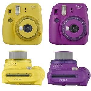 Image 2 - Fujifilm Instax Mini 9 Film Instant Kamera Trauben Rosa Schwarz + 20 Blätter Mini 8 Weiß Filme + Abdeckung + album + 10Pcs DIY Kits