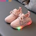 Детские кроссовки со светодиодной подсветкой, для мальчиков и девочек, обувь с подсветкой, размеры 21-30