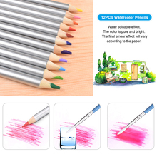72PCS Drawing Pencils Set Sketch Colored Pencils Watercolor Metallic Oily Complete Artist Kit Art Supplies with Canvas Case