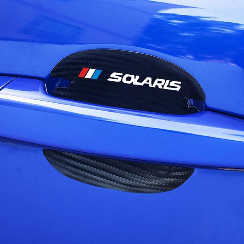 Купить 4 шт углеродное волокно узор автомобильная дверная ручка защита