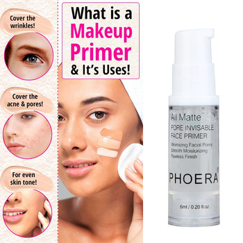 PHOERA Face Base Makeup Foundation First Moisturizing Primer Matte Makeup Fine Lines Oil-control Facial Cream Cosmetic 6ML image