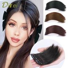 DIFEI невидимые накладные волосы, утолщенные накладки для корней волос, высокосинтетические прямые волосы, натуральные пушистые накладные ши...