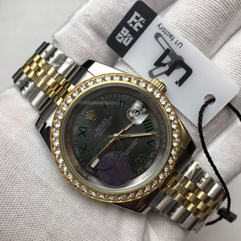 S Iced out Luxury Brand Ro-lex watch Day-Date  Men automatic self-wind sweeping movement AAA full diamonds
