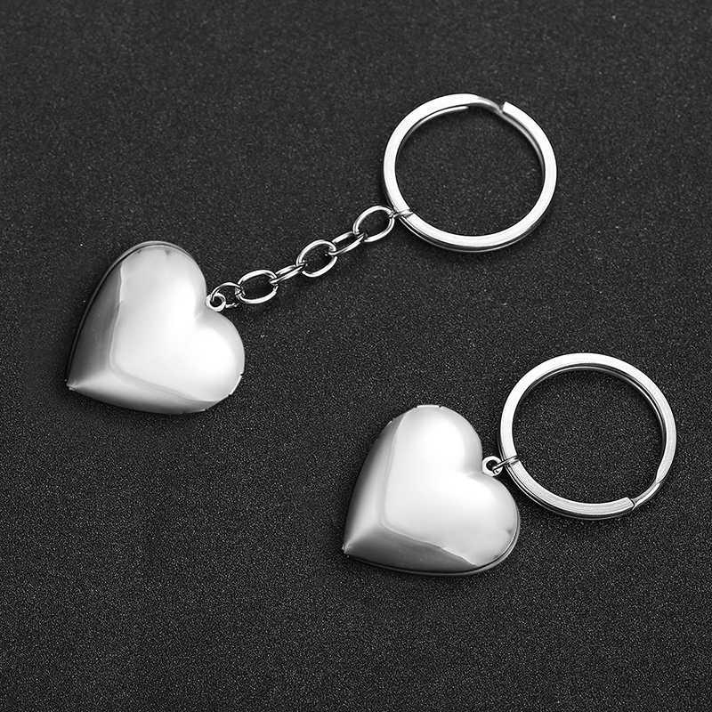 Spersonalizowany brelok do kluczy z sercem DIY Baby Mom zdjęcie miłość breloczki nazwa własna zdjęcia biżuteria uchwyt na kluczyk samochodowy rodzina niestandardowy prezent