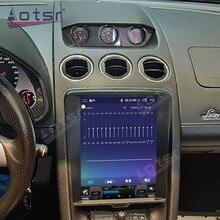 Android 64G Tesla Style вертикальный экран GPS навигация автомобиль мультимедиа радио плеер для Lamborghini Huracan 2004-2015 головное устройство