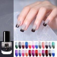 NEE JOLIE термальный лак с блеском для ногтей блестки Температура Изменение цвета быстро сухой маникюрный лак градиентный лак для ногтей
