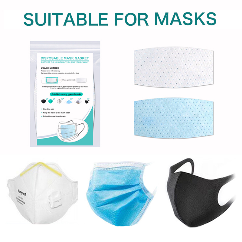 100pcs Disposable Face Masks Replacement Filtering Pad Breathable Mask Gasket Respiring Mat Mask
