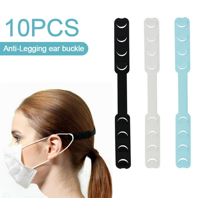 10pcs Face Mask Ear Hooks Extension Buckle Face Mouth Wearing Relief Pain Ear Protector Earache Preventions Fixer Mask Holder 1