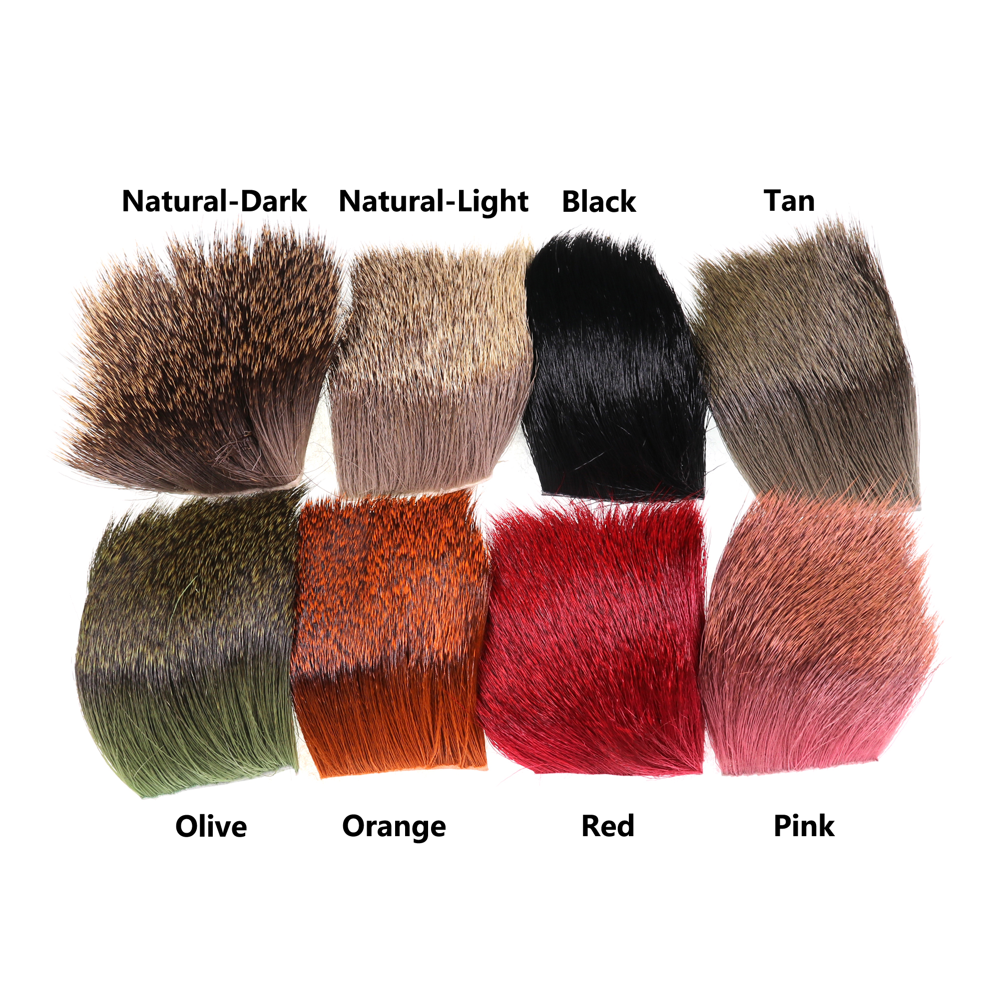 ICERIO 1 Piece Natural Deer Hair Patch Dry Flies Hopper Caddis Wings And Bodies Spinning Bass Bugs Fly Tying Materials