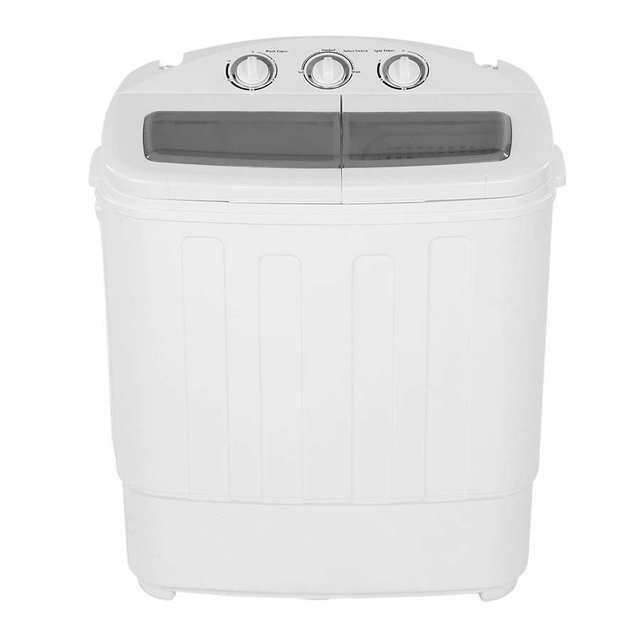 2-in-1 Twin Tub Washing And Spinning Machine Safety Timer Control 0/6/9/12/15 Mins 3 Modes Washing Machine 3-5KG With Spin-Dryer