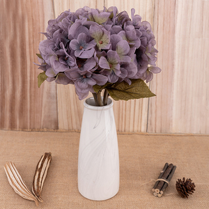 Image 4 - artificial flowers hydrangea branch home wedding decor autum silk plastic flower high quality fake flower party room decoration