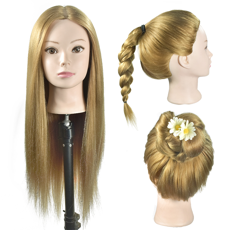 Free shipping High Quality Hairdressing Cosmetology Mannequin Training Head with Hair Makeup Manikin Mannequin Training Head