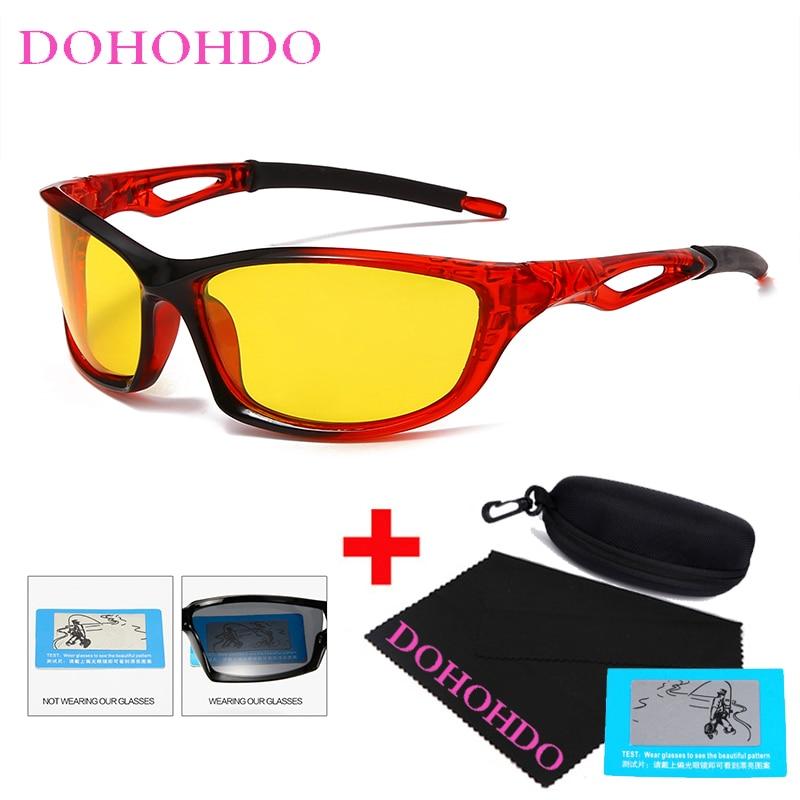 DOHOHDO 2021 New Anti Glare Night Vision Glasses For Men Women Sport Polarized Sunglasses Classic Brand Designer Driving Goggle