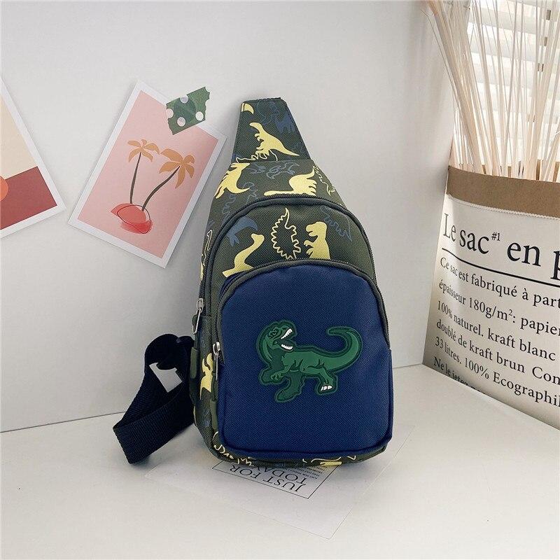 Kid Chest Bag Cute Girl Boy Fanny Cartoon Dinosaur Print Chest Bag Children Belt Bag Money Pouch Baby Zipper Waist Pack Bum Bag
