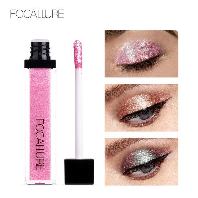 FOCALLURE 14 Colors Liquid Pigment Eyeshadow Ocean Light Waterproof Glitter Shimmer Highlighter Brighten Makeup Liquid Eyeshadow 2