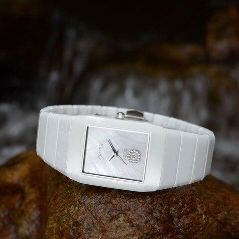 HAIYES Fashion Men Watches Top Brand Luxury Ceramic Quartz Watches Men Steel Leather Stylish Wrist Watches Relogio Maculino Multan