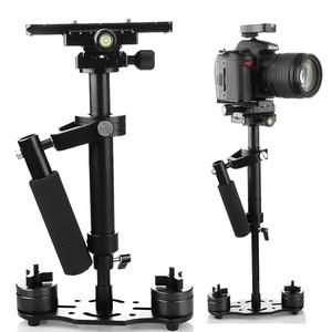 Image 4 - S40/S60/S80 עוזר צלם 40 CM/60 CM/80 CM אלומיניום Steadicam כף יד מייצב + נשיאה תיק עבור DSLR וידאו מצלמה צילום