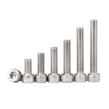 304 stainless steel cylindrical head hexagon socket head with knurled hex extension screw M14M16M18M20*110 140 150 180 190 200 image