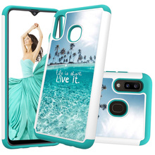 цена на 2 In 1 Hybrid Phone Case for Samsung Galaxy A50 A30 A20 A20e Note 10 Pro Back Cover Hard PC Soft TPU Shockproof Cute Coque Gifts