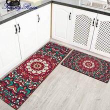 Sunnyrain 1 шт/2 шт Мандала кухонные коврики моющиеся для ванной
