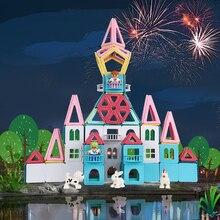 2019 neue Macaron Farbe Magnetische Blöcke Spielzeug für Kinder Magnet Bau Blocks Set Designer Bildungs Bricks Magnetische Spielzeug